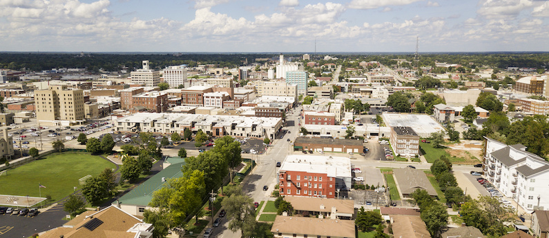 An Aerial view of Springfield